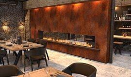 Restaurant Setting Linear Fires Flex Fireplace Idea