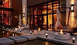 Commercial Space Landscape Fireplaces Fire Table Idea