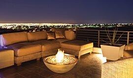 New American Home Landscape Fireplaces Fire Pit Idea