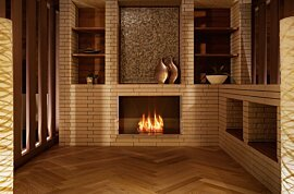 Firebox 800SS Outdoor Fireplace - In-Situ Image by EcoSmart Fire