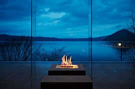 BK5 Outdoor Fireplace - In-Situ Image by EcoSmart Fire