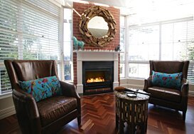 Grate 36 Indoor Fireplace - In-Situ Image by EcoSmart Fire