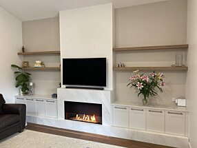 Private Residence - Flex 42SS Built-In Fireplace by EcoSmart Fire