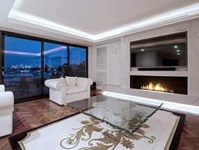 Private Residence - Flex 68SS Fireplace Insert by EcoSmart Fire
