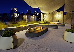 Commercial - Linear 50 Freestanding Fireplace by EcoSmart Fire