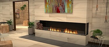 Lounge Area - Commercial Fireplaces