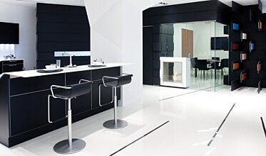 Snaidero Showroom - Commercial Fireplaces