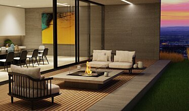 Square 22 Fire Pit - In-Situ Image by EcoSmart Fire