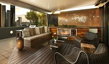Private Balcony - Residential Fireplaces