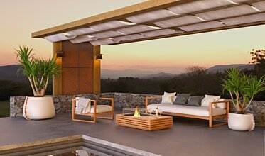 Outdoor entertaining area - Residential Fireplaces