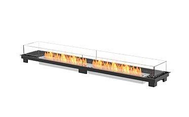 Linear 90 Fire Pit - Studio Image by EcoSmart Fire