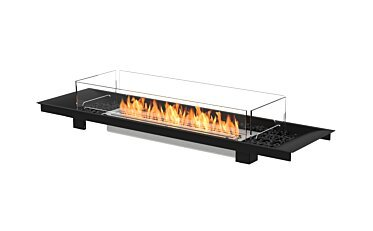 Linear Curved 65 Fire Pit - Studio Image by EcoSmart Fire