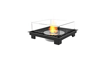 Square 22 Fire Pit - Studio Image by EcoSmart Fire