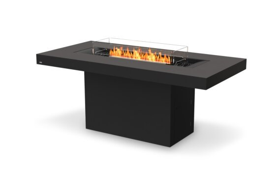 Gin 90 (Bar) Fire Table - Ethanol - Black / Graphite / Optional Fire Screen by EcoSmart Fire