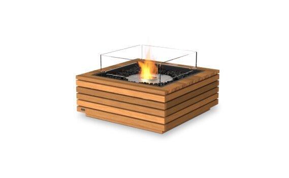 Base 30 Fire Table - Ethanol / Teak / Optional Fire Screen by EcoSmart Fire