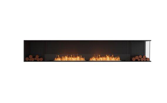 Flex 122RC.BX2 Right Corner - Ethanol / Black / Installed View by EcoSmart Fire