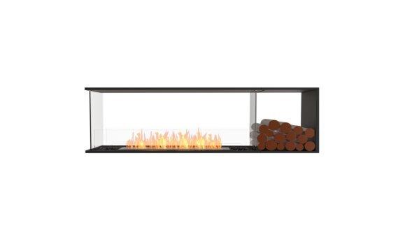 Flex 68PN.BXR Peninsula - Ethanol / Black / Installed View by EcoSmart Fire