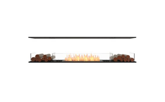 Flex 86IL.BX2 Island - Ethanol / Black / Installed view by EcoSmart Fire