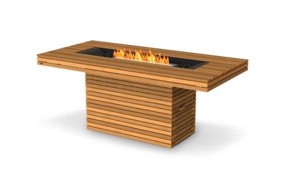 Gin 90 (Bar) Fire Table - Ethanol / Teak by EcoSmart Fire