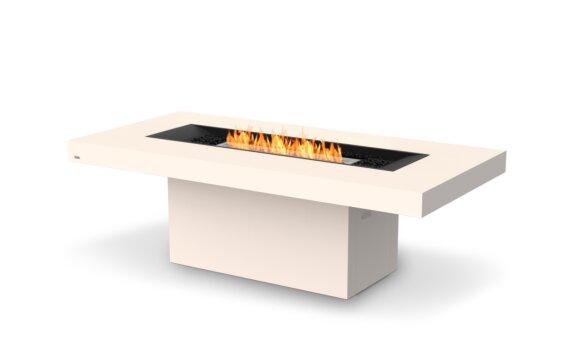 Gin 90 (Dining) Fire Table - Ethanol / Bone / Optional Fire Screen by EcoSmart Fire