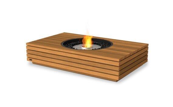 Martini 50 Fire Table - Ethanol / Teak by EcoSmart Fire