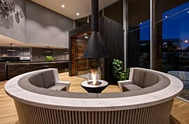 AB3 Outdoor Fireplace - In-Situ Image by EcoSmart Fire