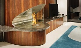 SAAJ Design Residential Fireplaces Ethanol Burner Idea