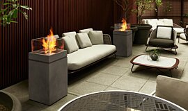 Merkmal Showroom Fluid Concrete Technology Fire Pit Idea
