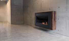 Max Brenner Linear Fires Curved Fireplace Idea