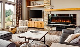 Private Residence Residential Fireplaces Electric Fireplace Idea