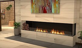 Lounge Area Linear Fires Bay Idea