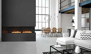Flex 104RC.BXL Right Corner - In-Situ Image by EcoSmart Fire
