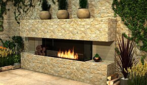 Flex 68BY.BXL Flex Fireplace - In-Situ Image by EcoSmart Fire