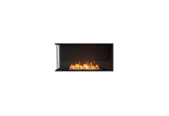 Flex 42LC Left Corner - Ethanol / Black / Installed View by EcoSmart Fire