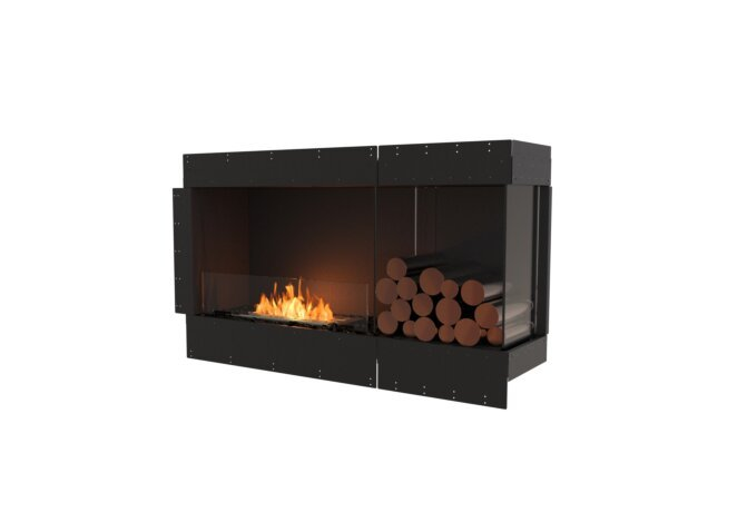Flex 50RC.BXR Right Corner - Ethanol / Black / Uninstalled View by EcoSmart Fire
