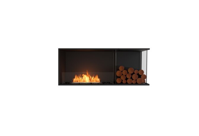 Flex 50RC.BXR Right Corner - Ethanol / Black / Installed View by EcoSmart Fire