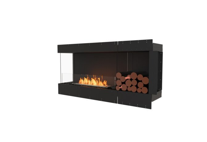 Flex 60LC.BXR Left Corner - Ethanol / Black / Uninstalled View by EcoSmart Fire