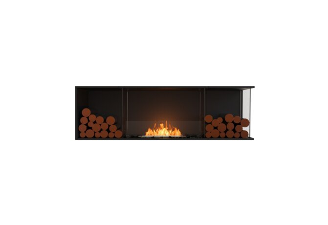 Flex 68RC.BX2 Right Corner - Ethanol / Black / Installed View by EcoSmart Fire