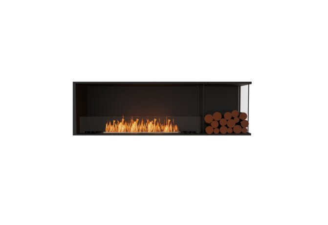 Flex 68RC.BXR Right Corner - Ethanol / Black / Installed View by EcoSmart Fire