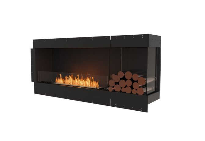 Flex 68RC.BXR Right Corner - Ethanol / Black / Uninstalled View by EcoSmart Fire