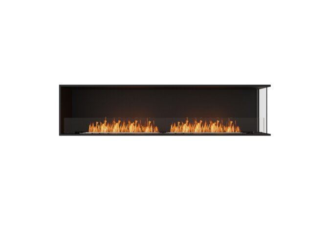 Flex 86RC Right Corner - Ethanol / Black / Installed View by EcoSmart Fire