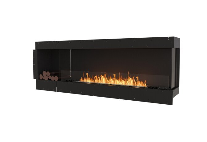 Flex 86RC.BXL Right Corner - Ethanol / Black / Uninstalled View by EcoSmart Fire