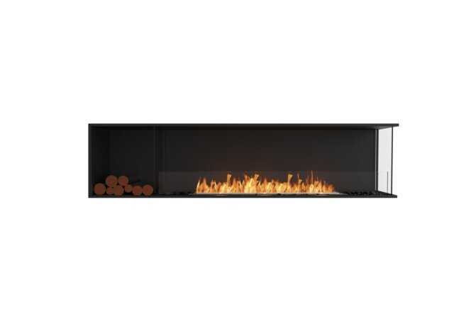 Flex 86RC.BXL Right Corner - Ethanol / Black / Installed View by EcoSmart Fire