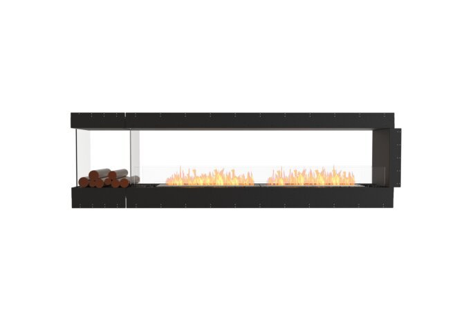 Flex 104PN.BXL Peninsula - Ethanol / Black / Uninstalled View by EcoSmart Fire
