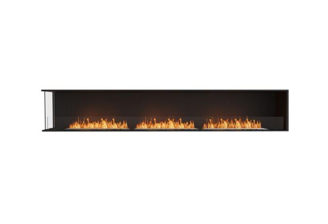 Flex 122LC Left Corner - Ethanol / Black / Installed View by EcoSmart Fire