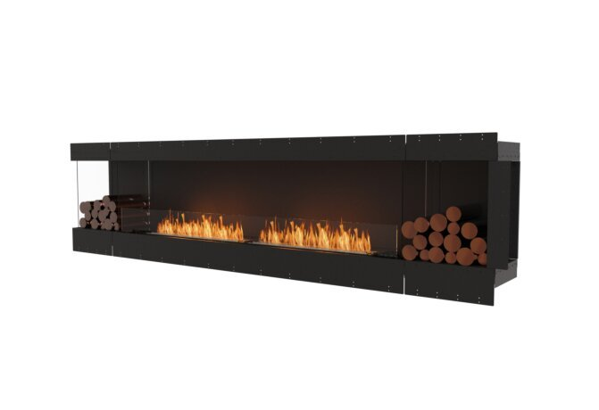 Flex 122LC.BX2 Left Corner - Ethanol / Black / Uninstalled View by EcoSmart Fire