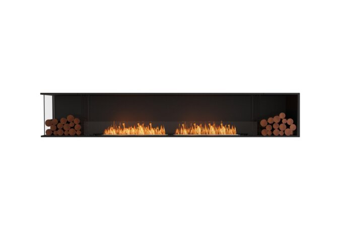 Flex 122LC.BX2 Left Corner - Ethanol / Black / Installed View by EcoSmart Fire