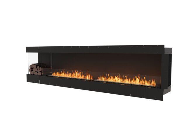 Flex 122LC.BXL Left Corner - Ethanol / Black / Uninstalled View by EcoSmart Fire