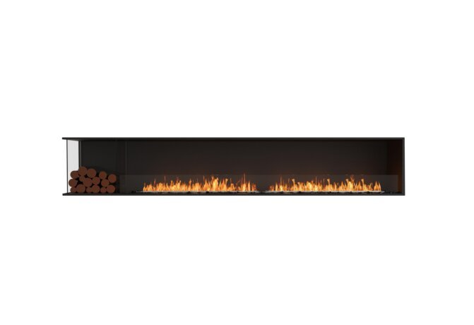 Flex 122LC.BXL Left Corner - Ethanol / Black / Installed View by EcoSmart Fire