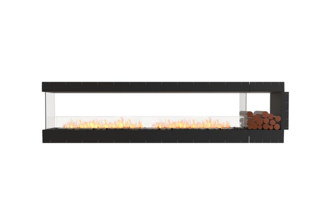 Flex 122PN.BXR Peninsula - Ethanol / Black / Uninstalled View by EcoSmart Fire